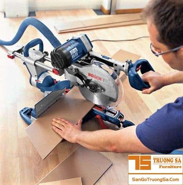 cắt sàn gỗ