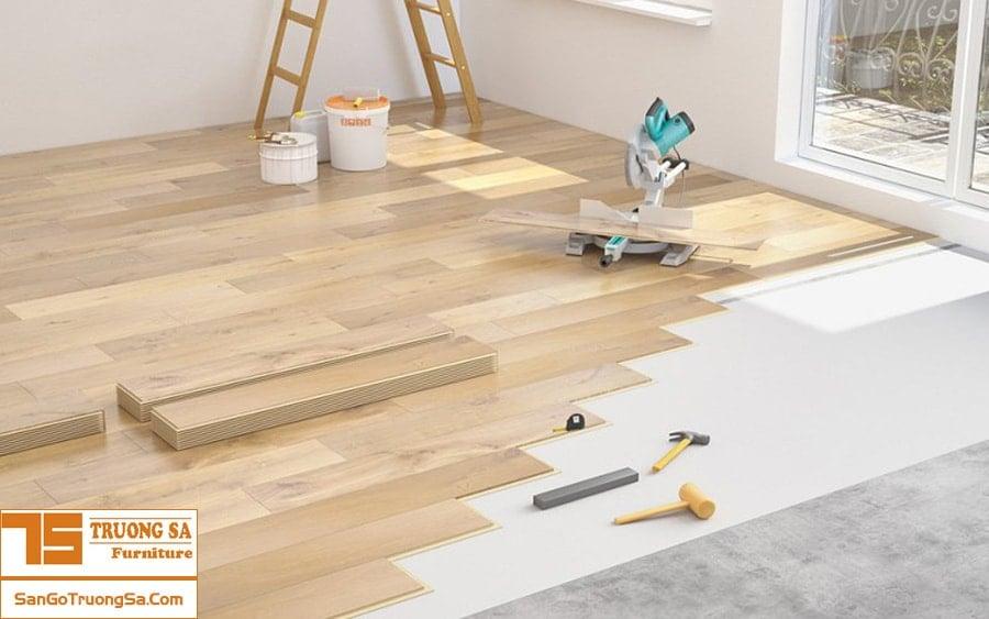 chi phí thi công sàn gỗ
